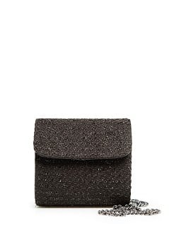 Bouclé box shoulder bag
