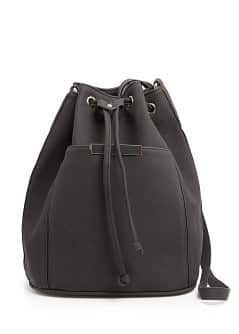 Bucket bag met metalen detail