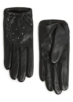 STRASS SHORT LEATHER GLOVES