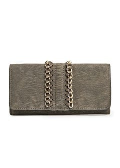 Animal texture chain wallet