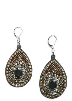 Beads velvet earrings