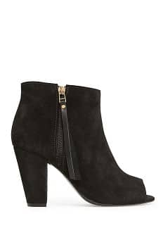BOTTINES PEEP-TOE EN DAIM