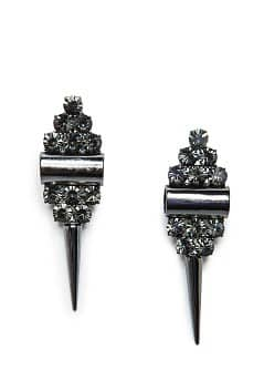 Spike crystals earrings