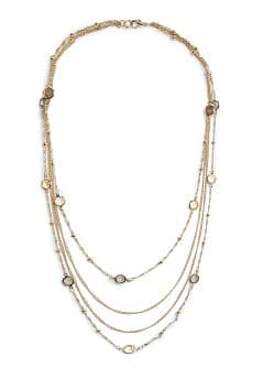 Cascading effect chain necklace