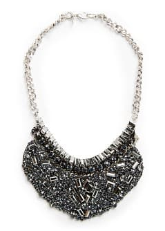Stones bib necklace