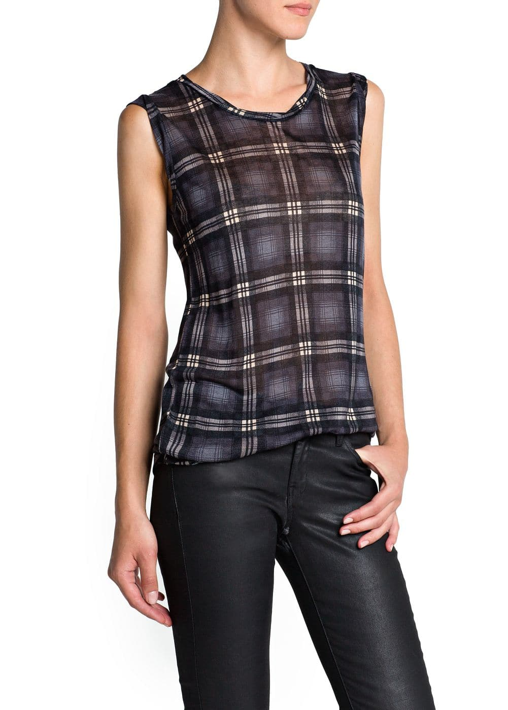 Lightweight check t-shirt