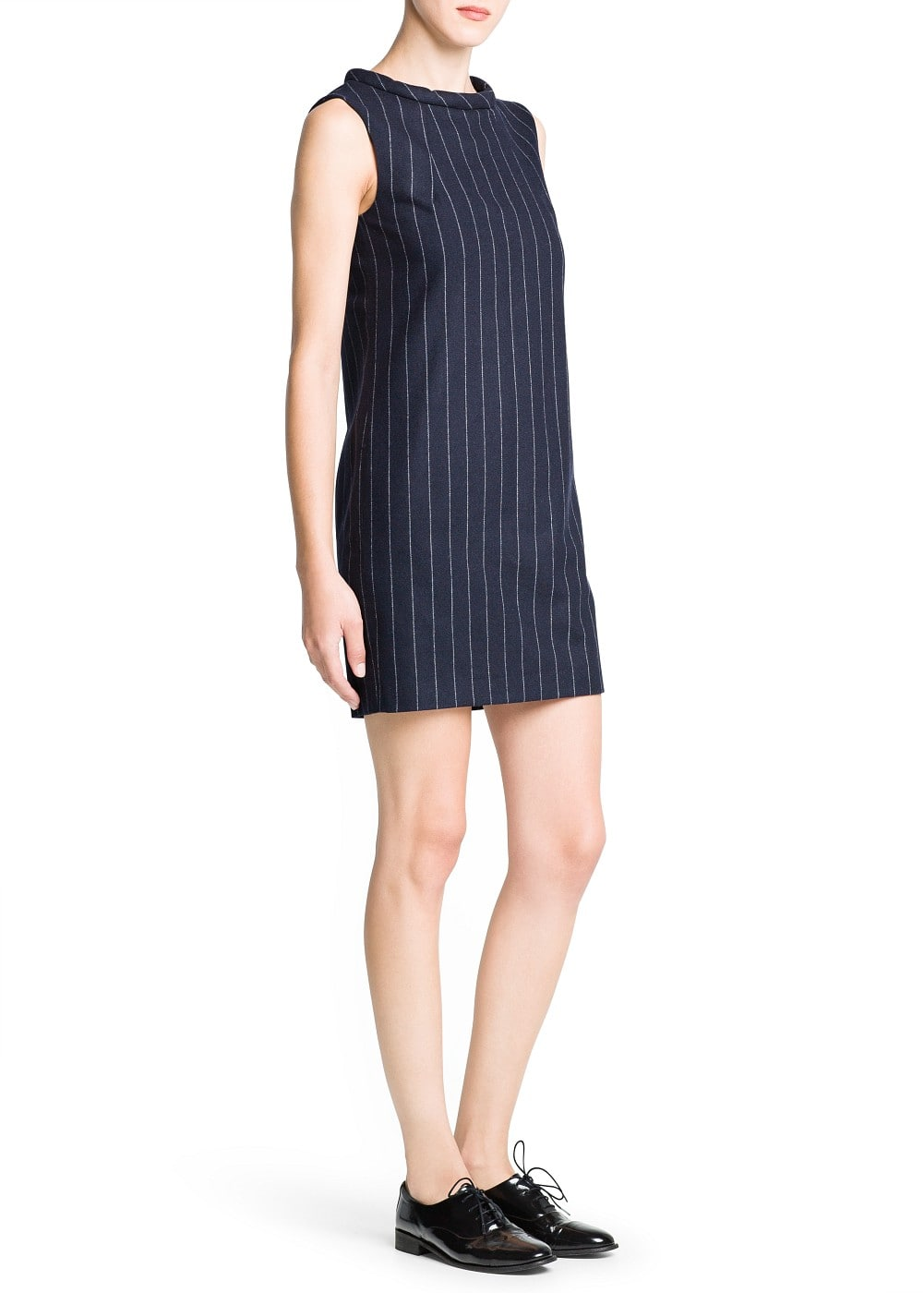 Pinstripe wool-blend dress | MANGO