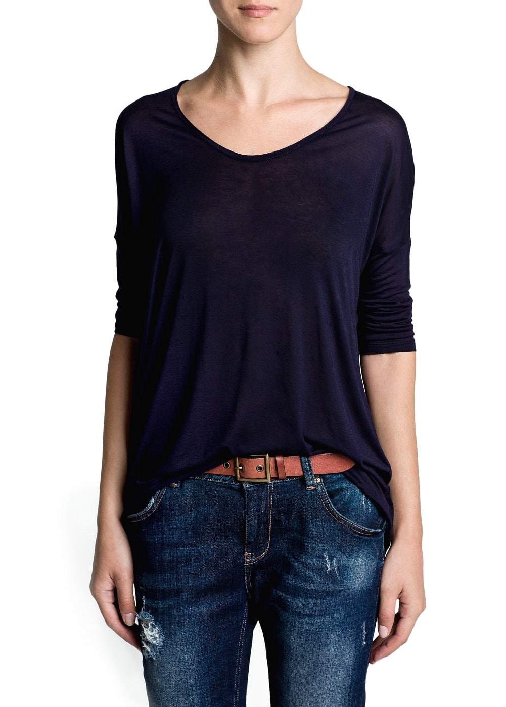 Dolman sleeve lightweight t-shirt