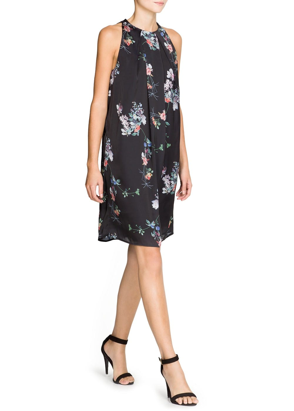 Floral print satin dress | MANGO