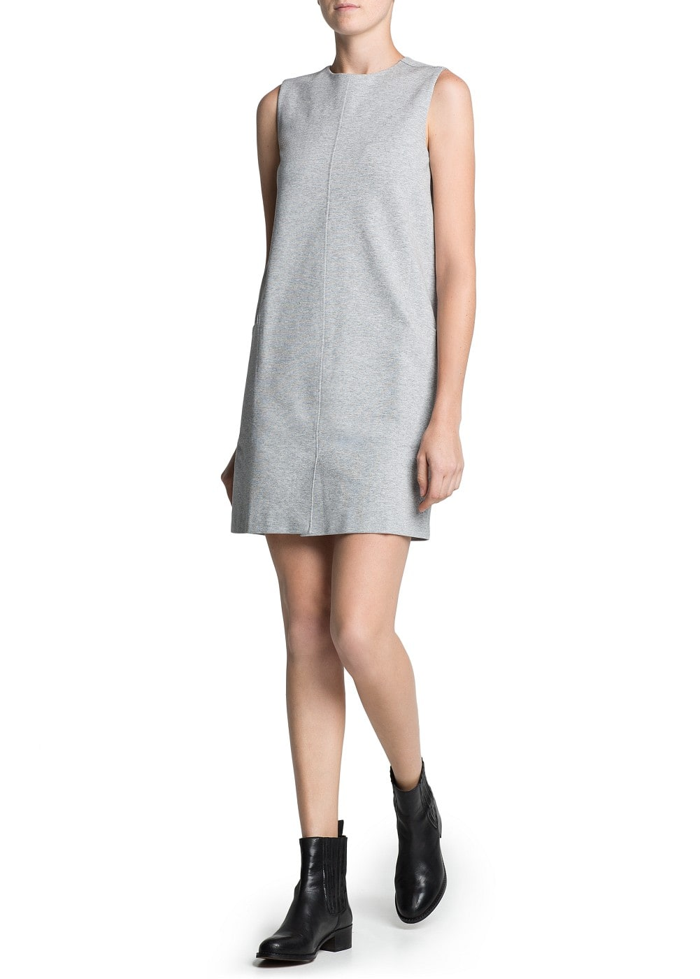 Two-pocket shift dress | MANGO