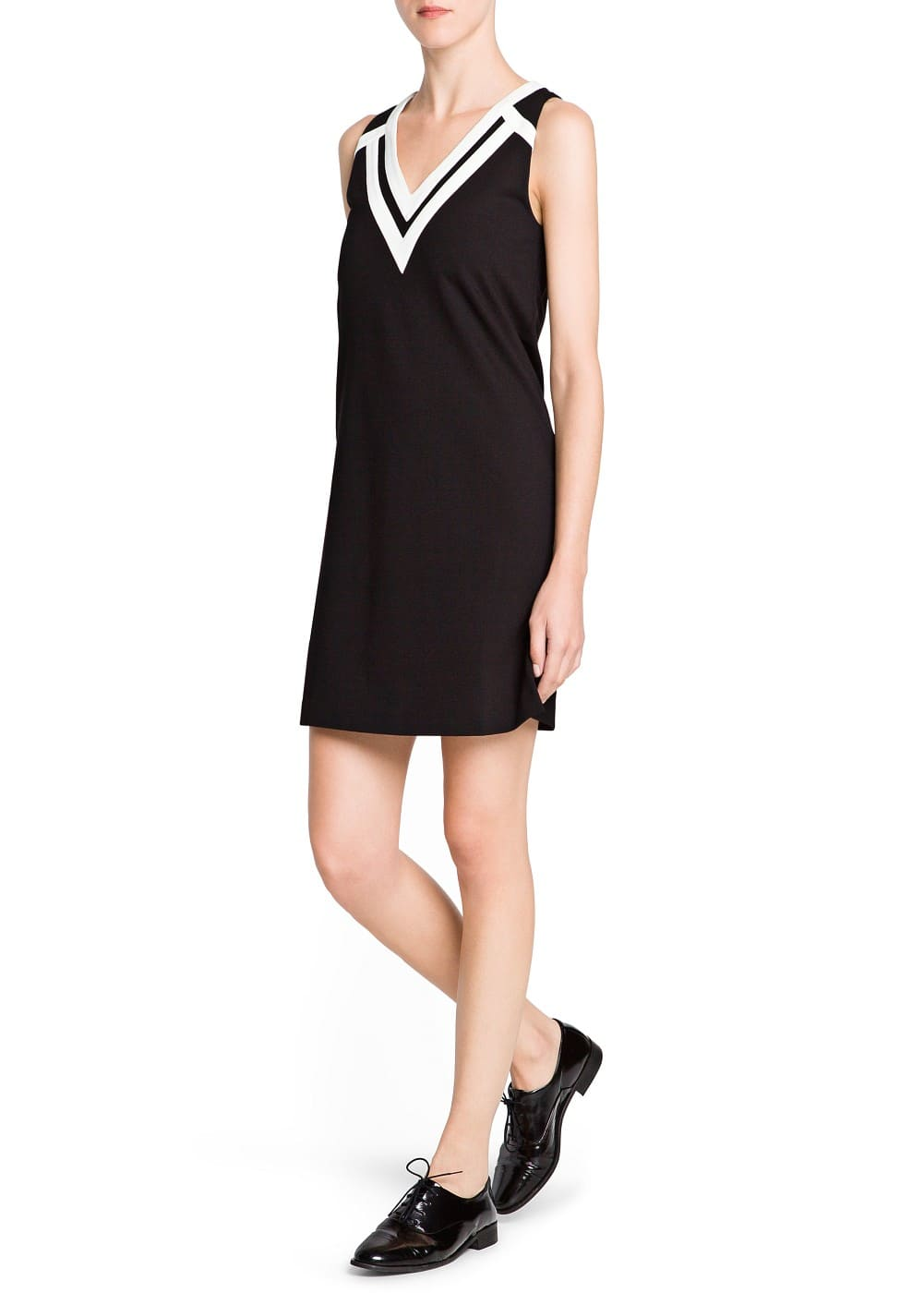 Bicolor shift dress | MANGO