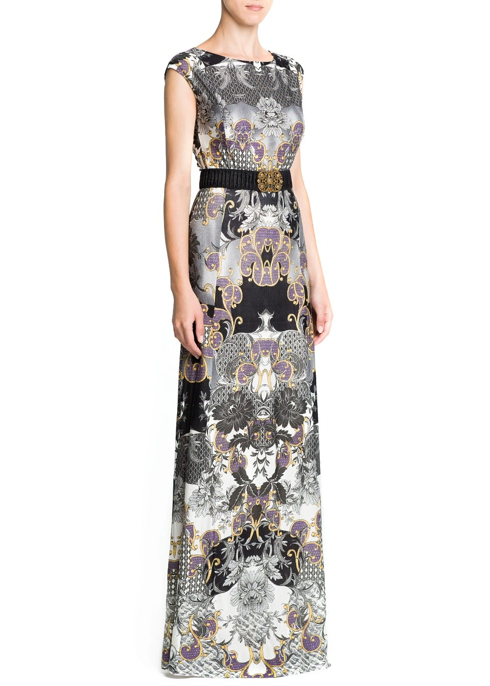 Baroque print gown