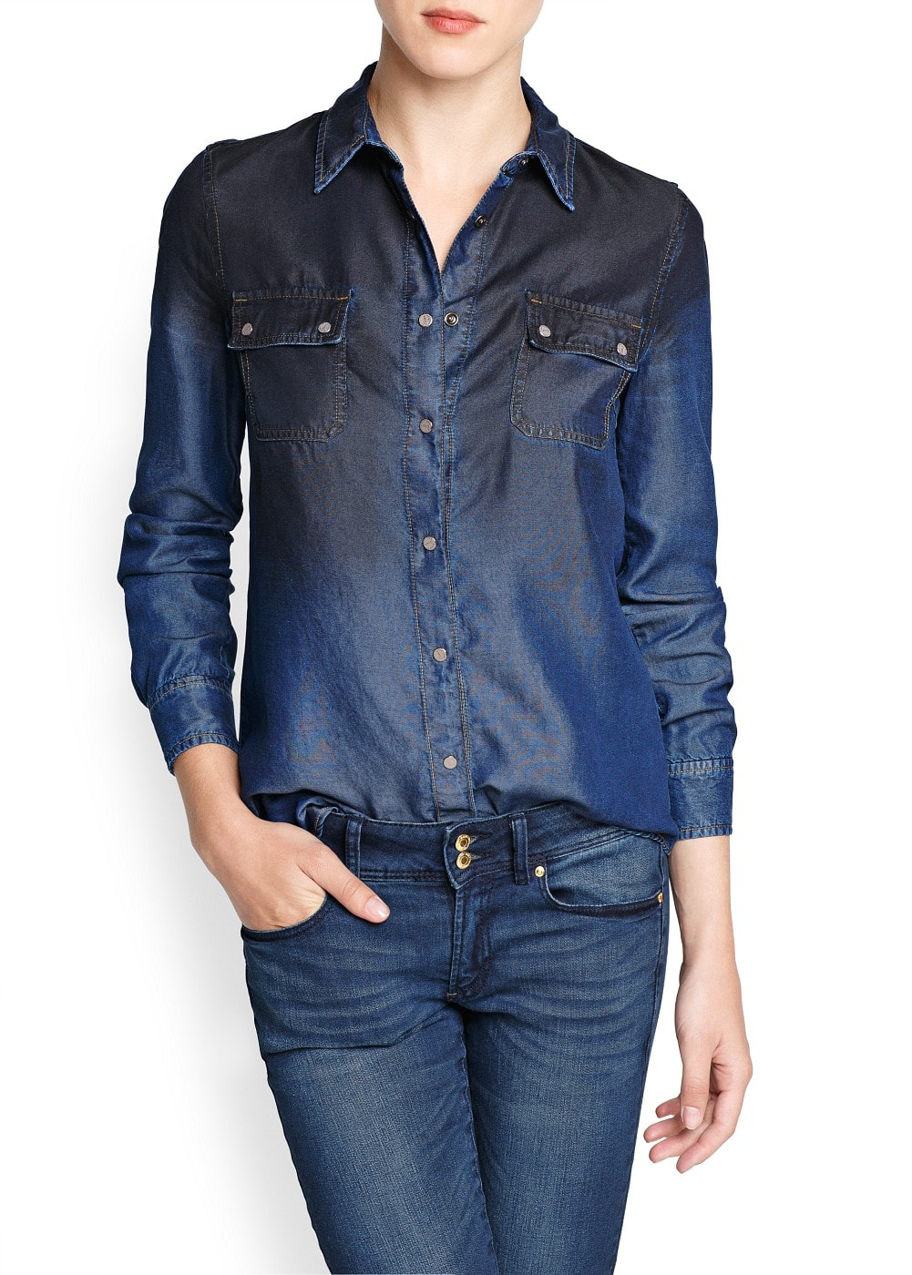 Dark ombré tencel shirt