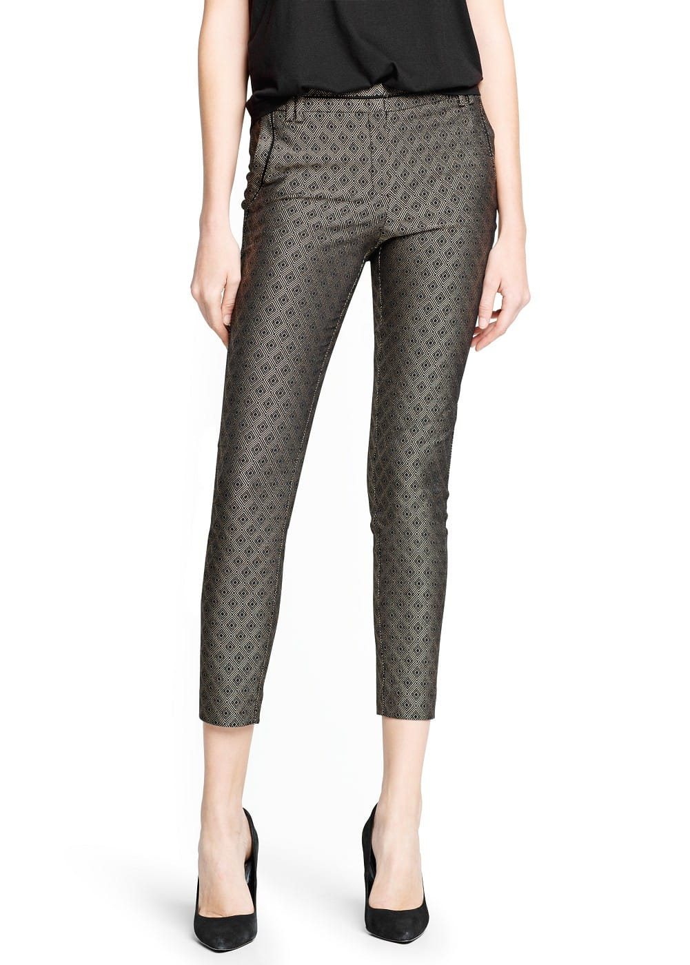 Rhombus jacquard suit trousers