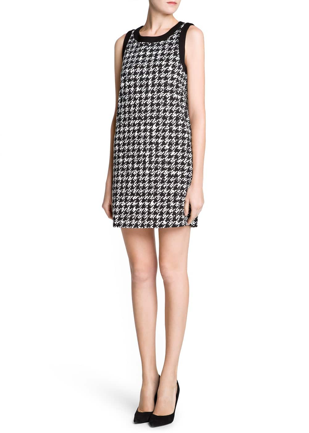 Houndstooth shift dress | MANGO