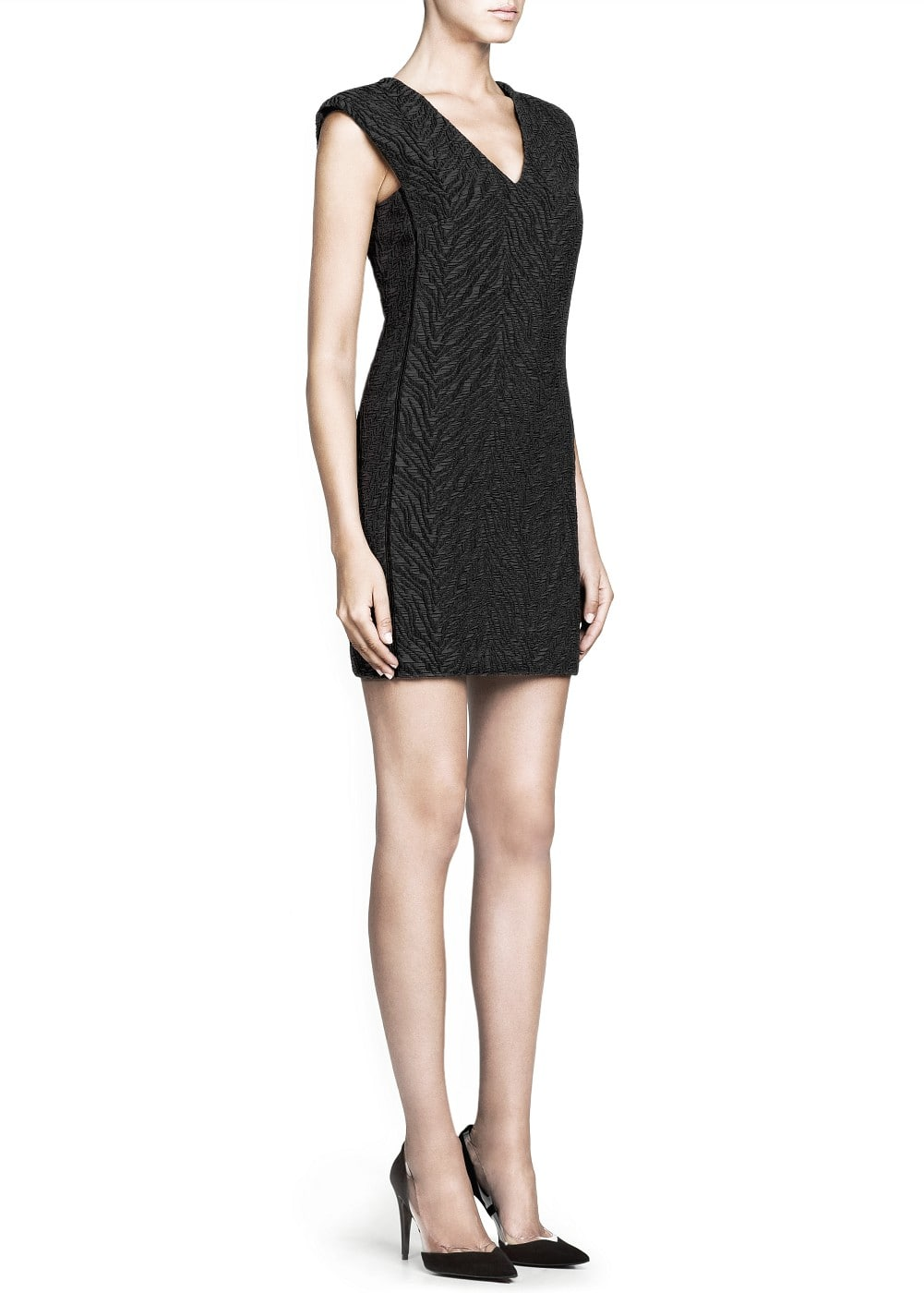 Premium - jacquard structured dress | MANGO