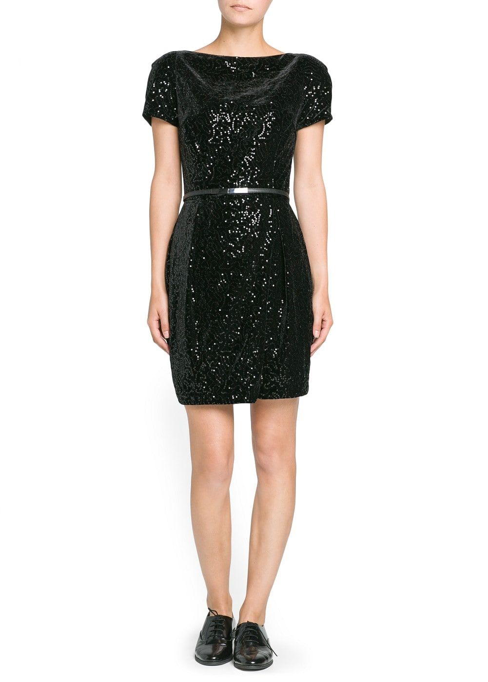 Sequin velvet dress