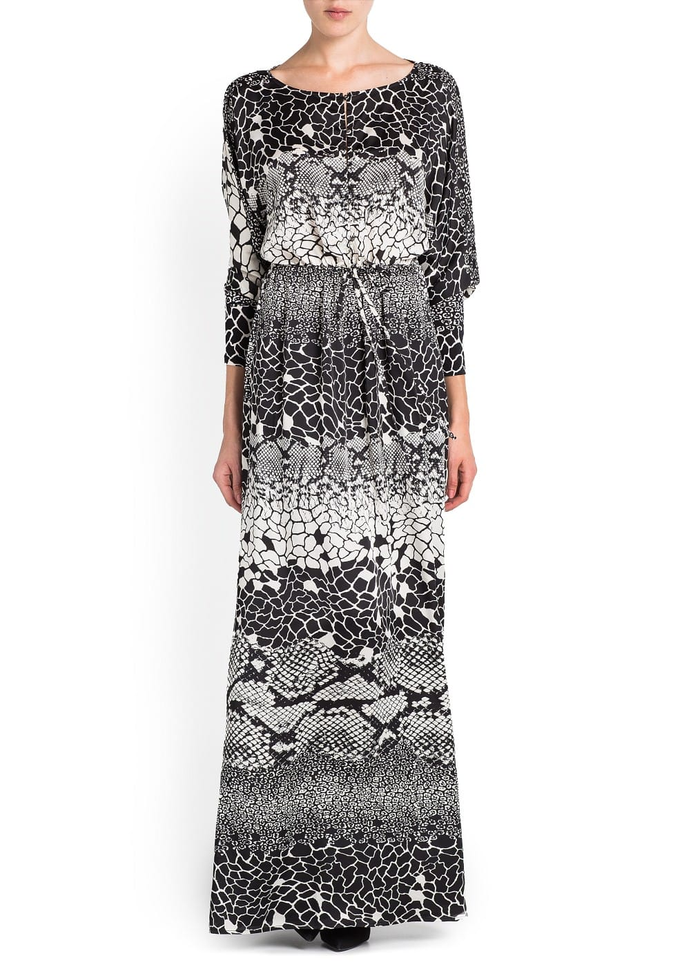 Snake print long dress | MANGO
