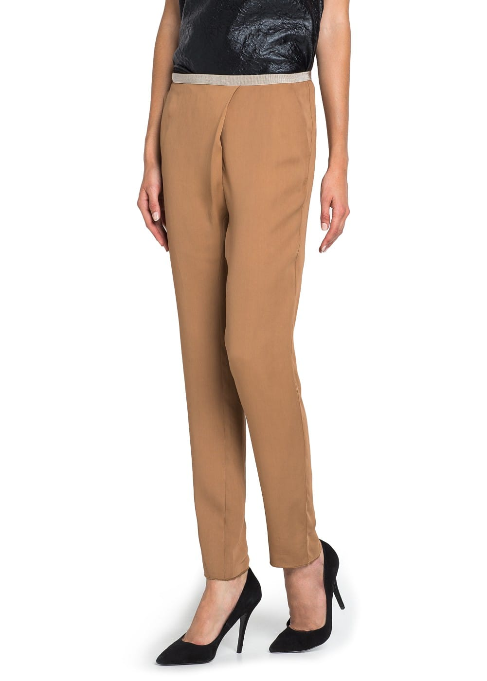 PREMIUM - FLOWY CROSS-OVER TROUSERS