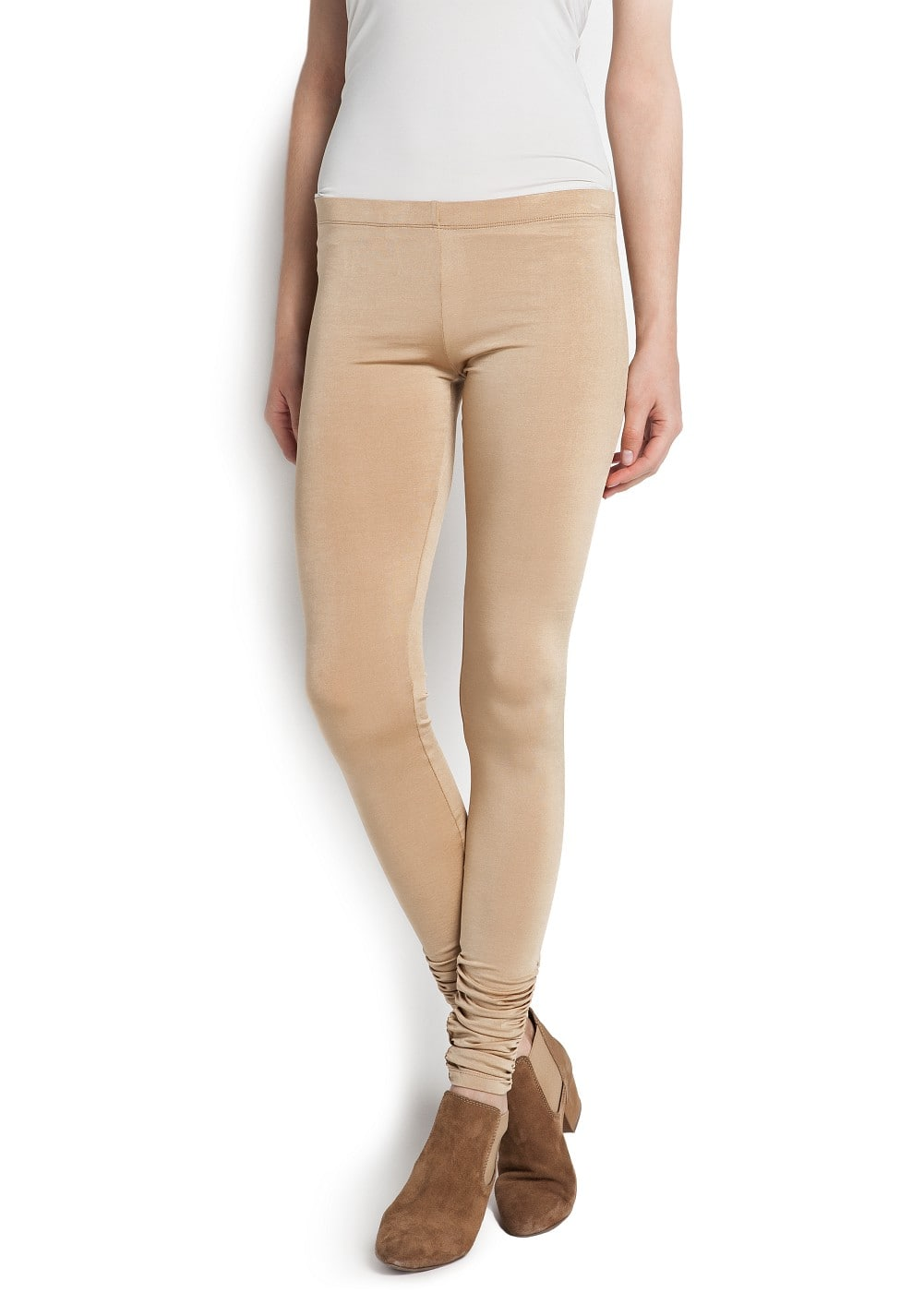 Satin-finish leggings | MANGO