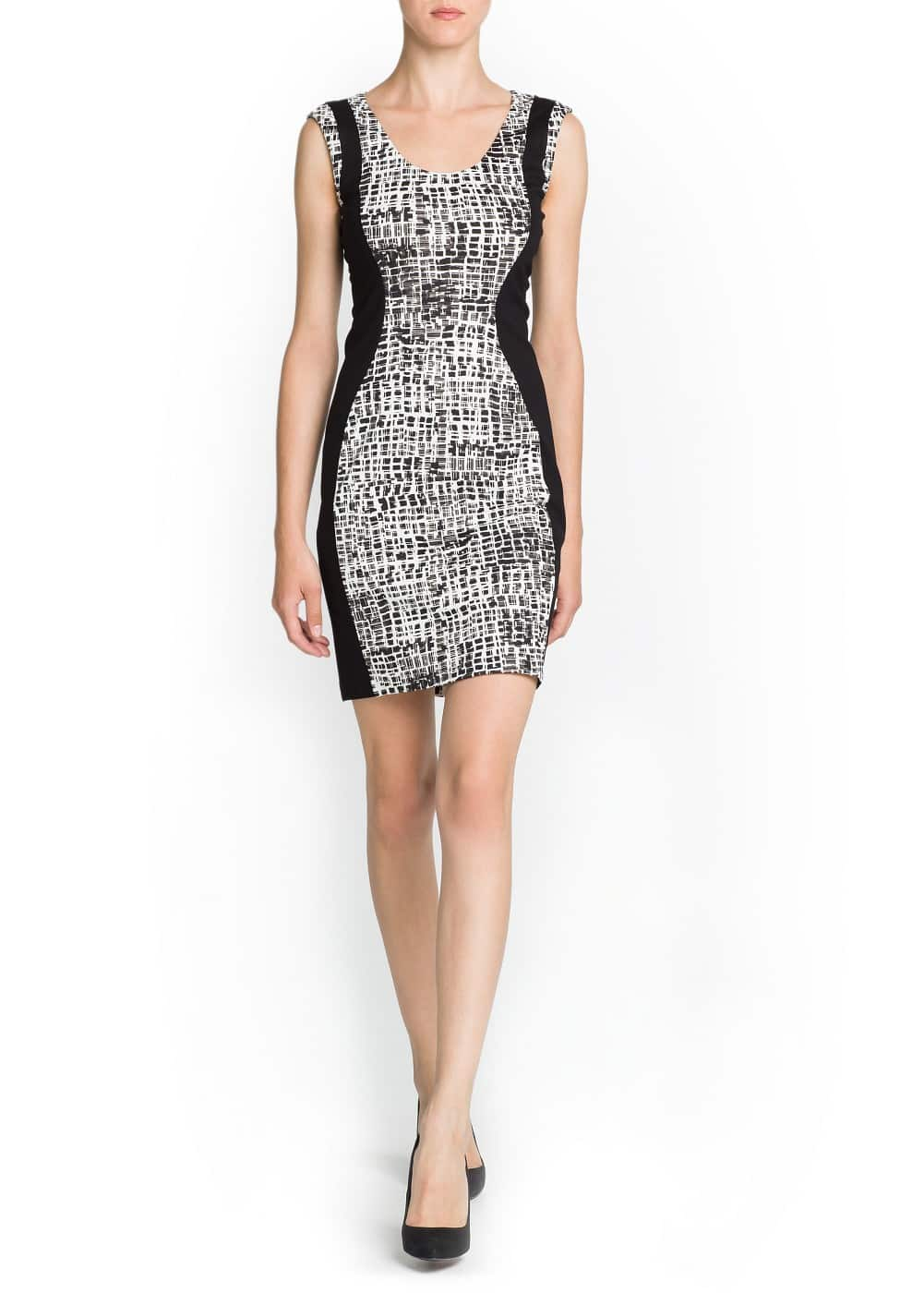 Graphic print pencil dress