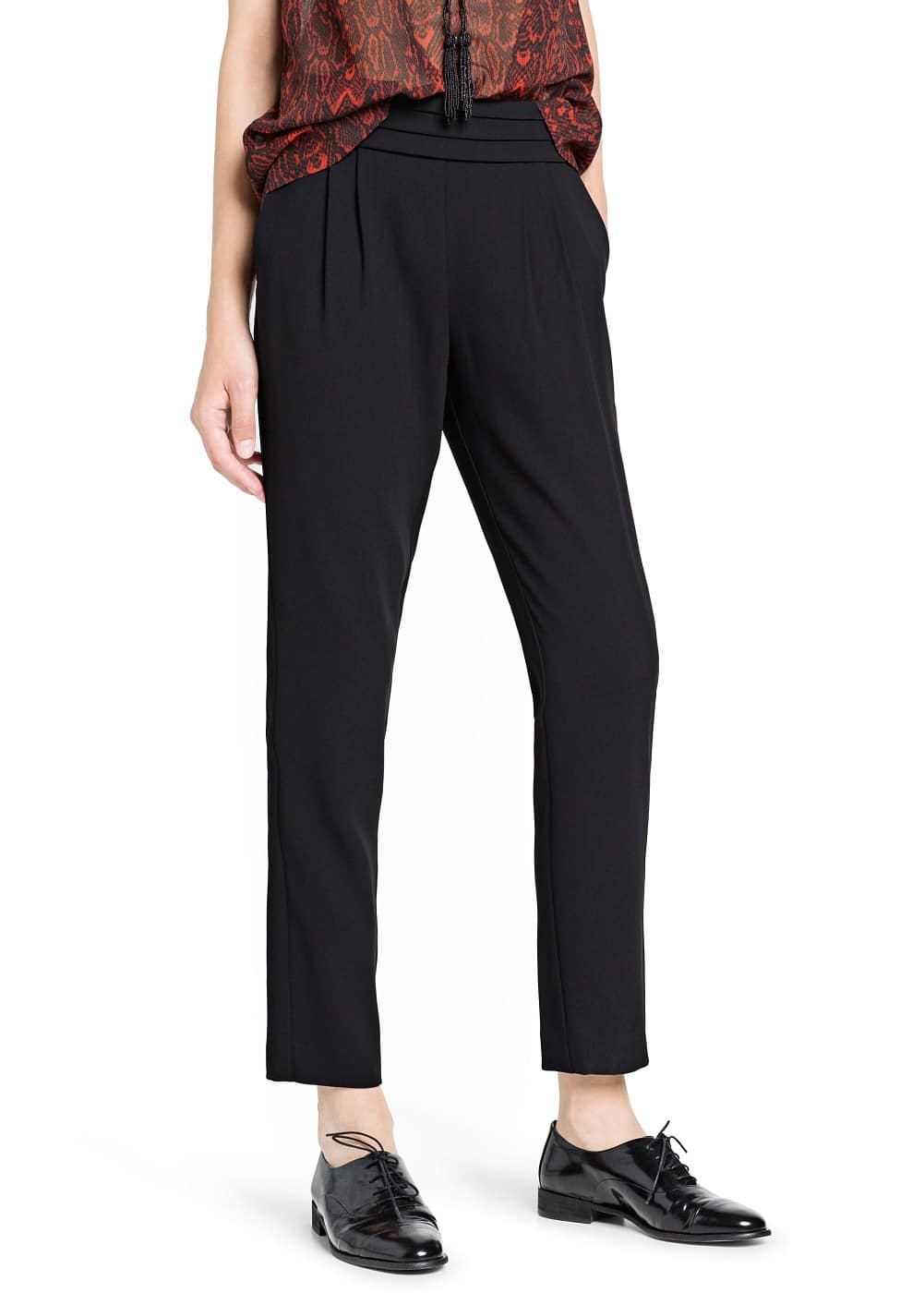 Pleated baggy trousers | MANGO