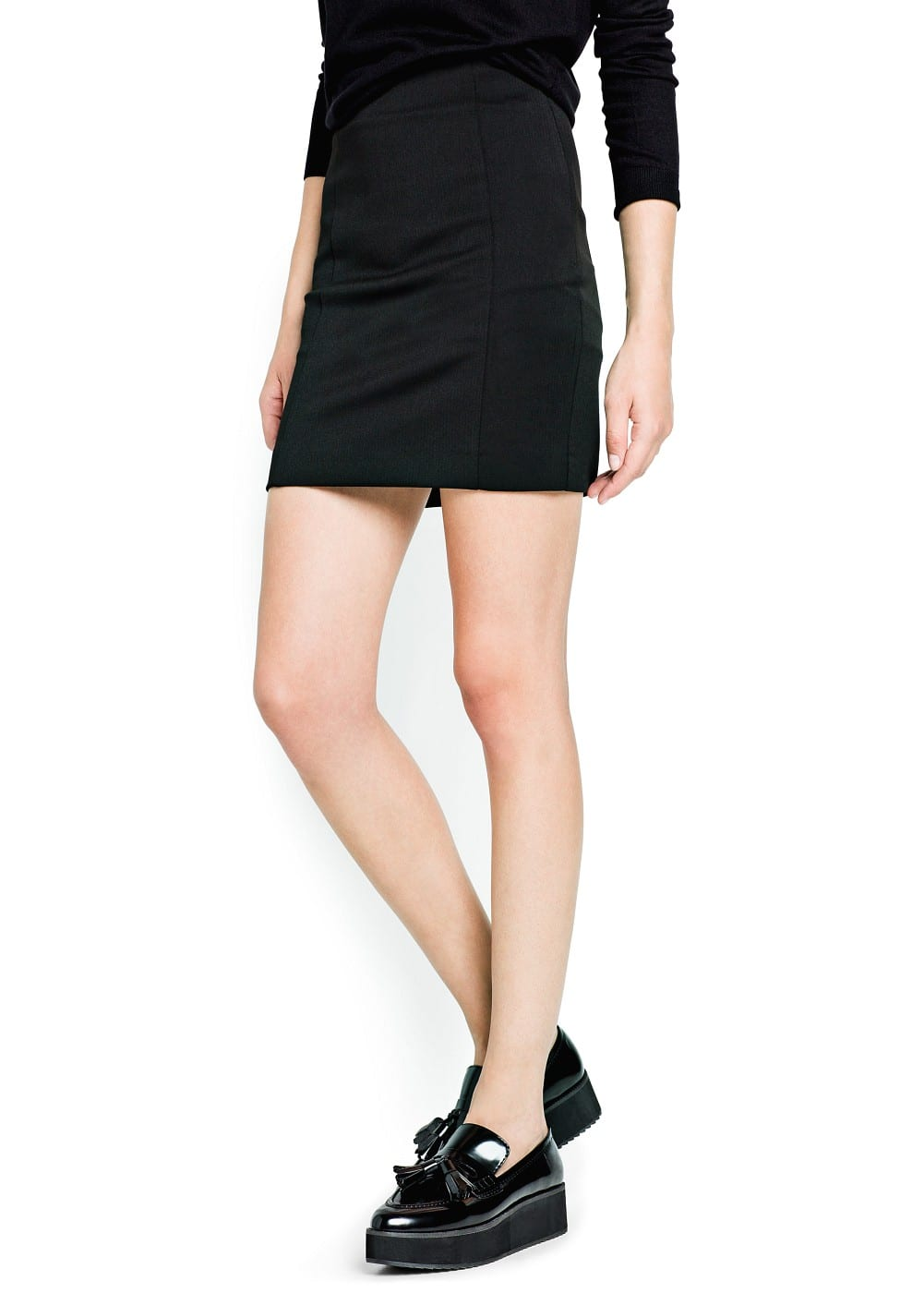Straight-fit miniskirt