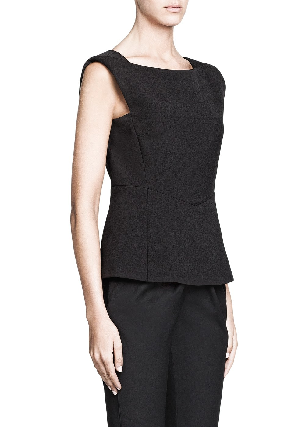 PREMIUM - Structured peplum top