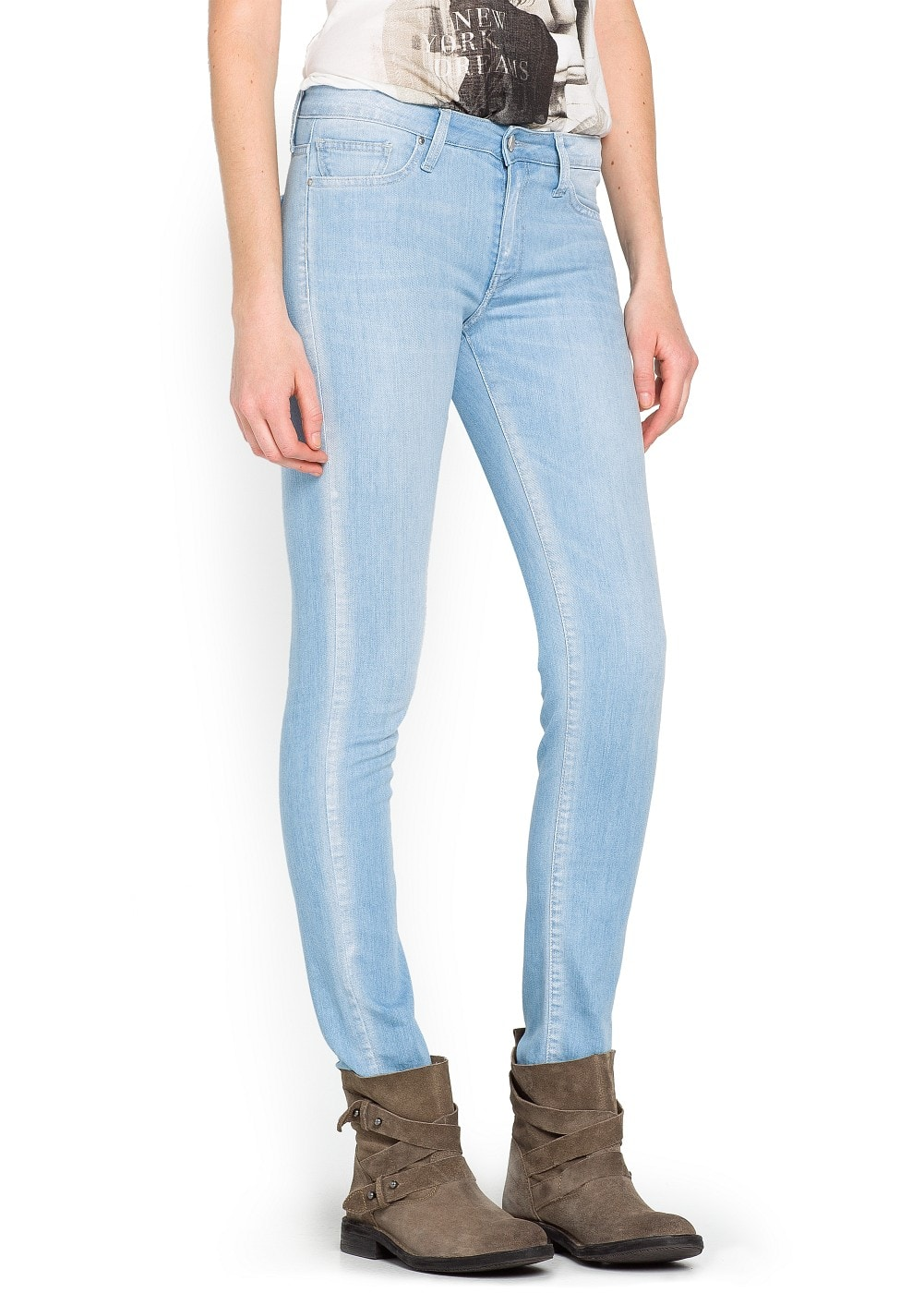 Super slim-fit glitter Moto jeans