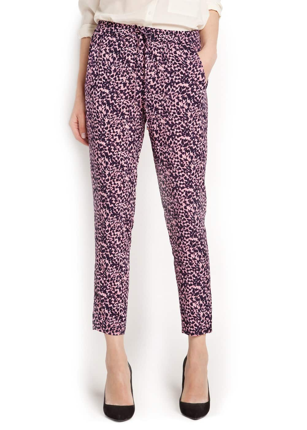 Printed flowy trousers