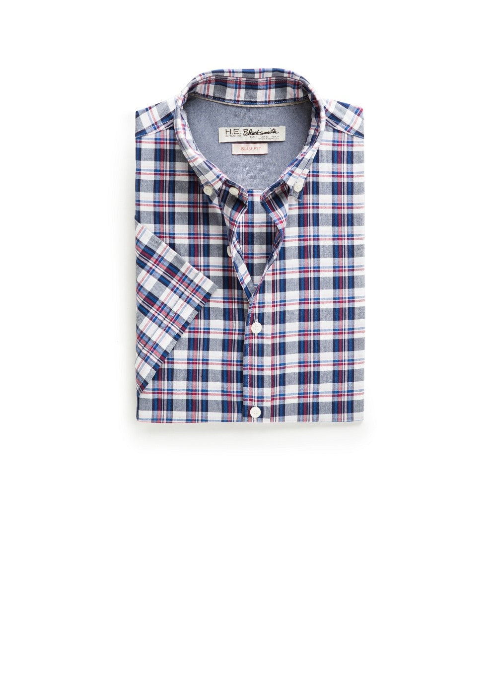 Short sleeved slim-fit shirt