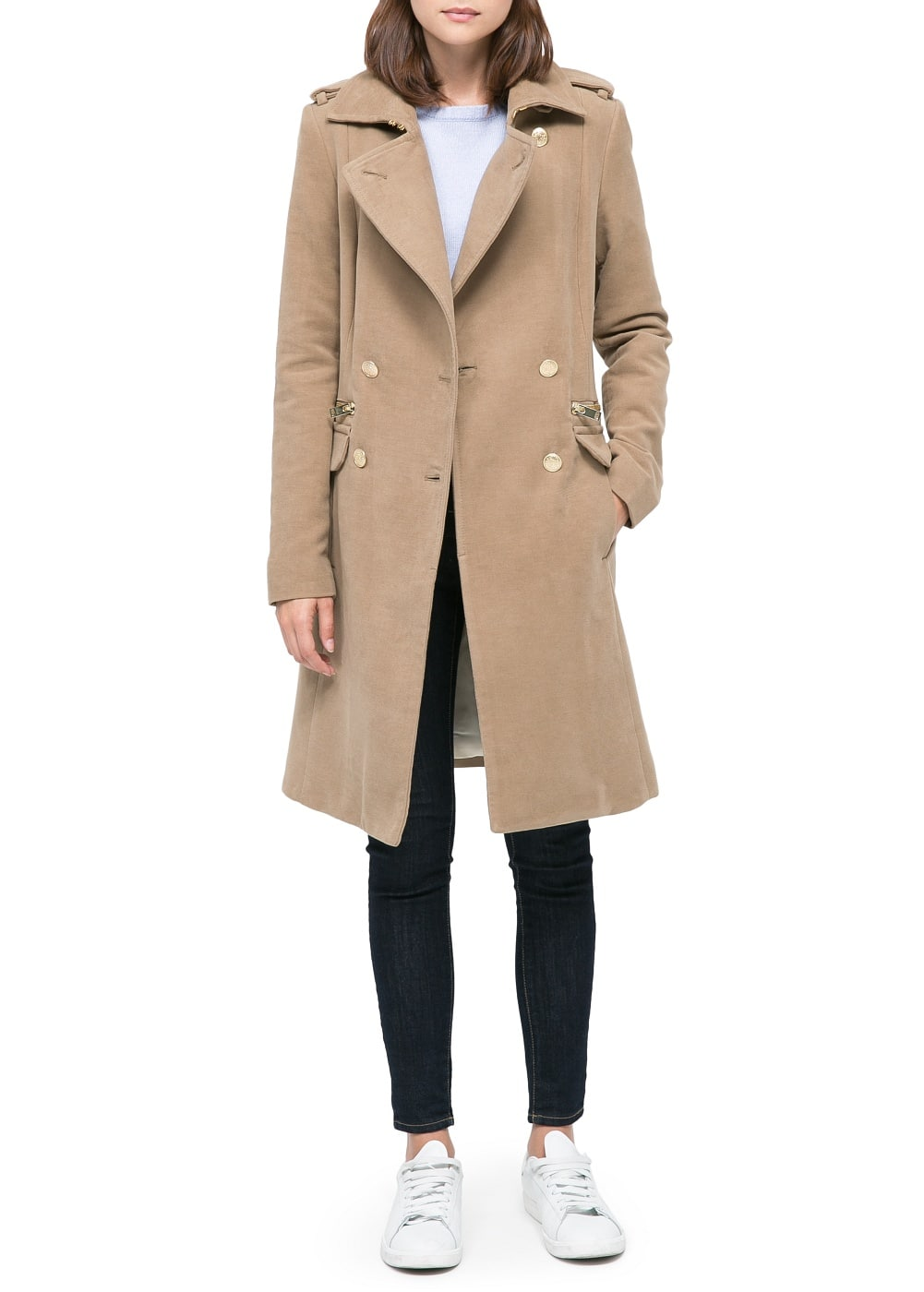 Military style long coat | MANGO