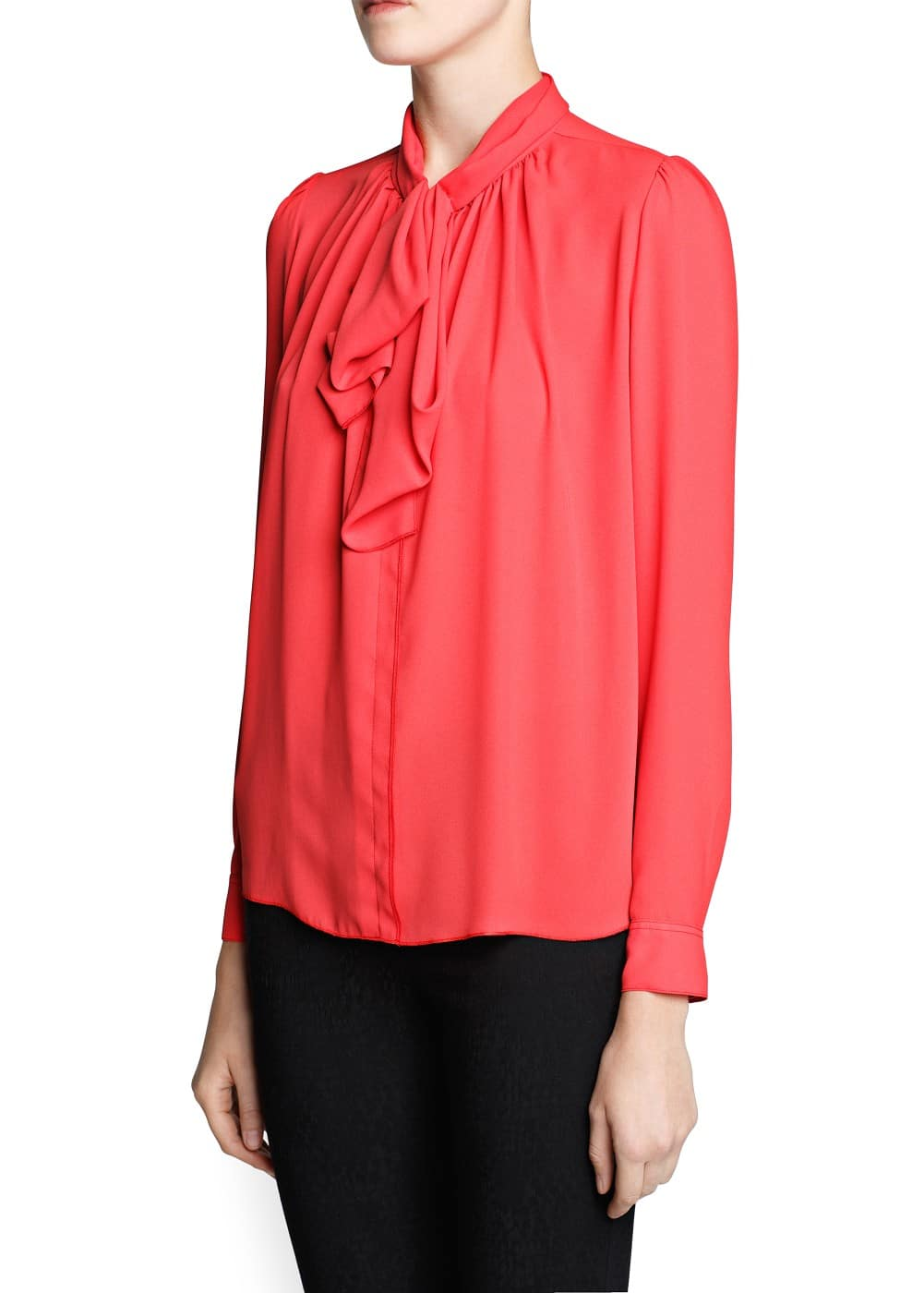 Bow flowy blouse