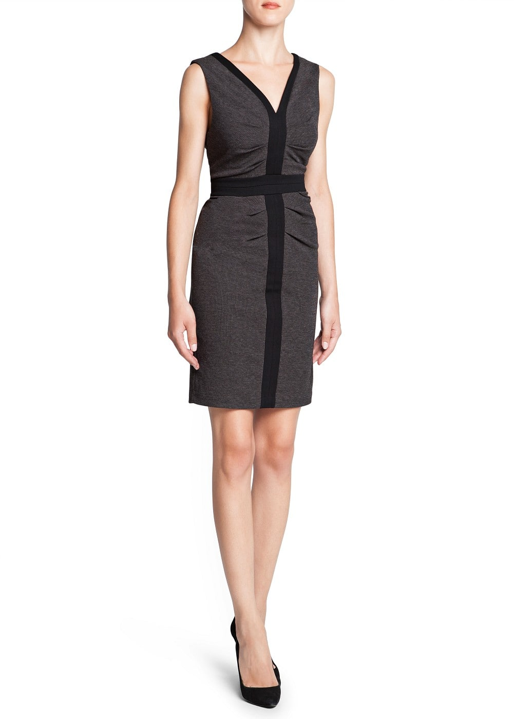 Draped detail pencil dress