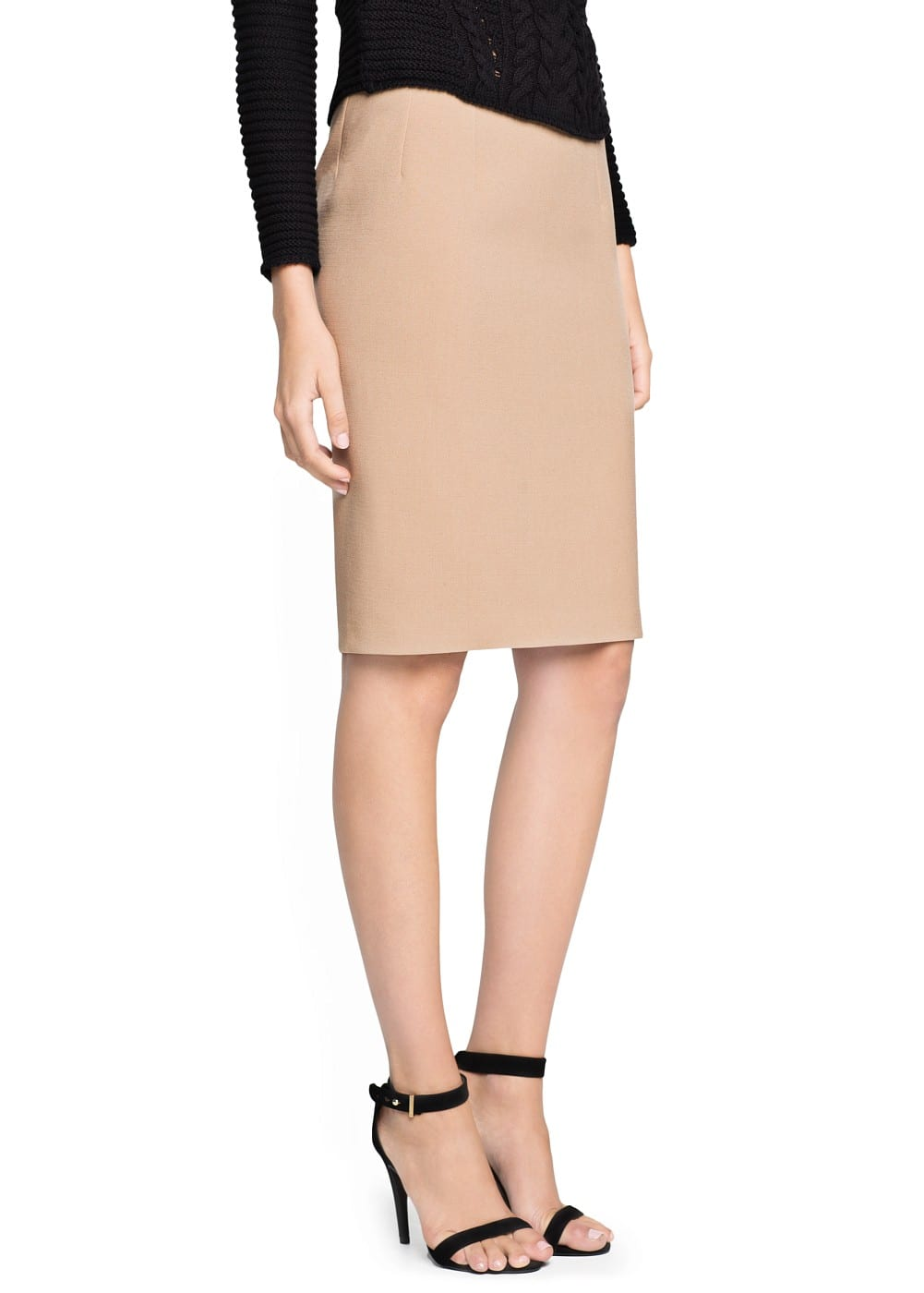 Back vent bodycon skirt | MANGO