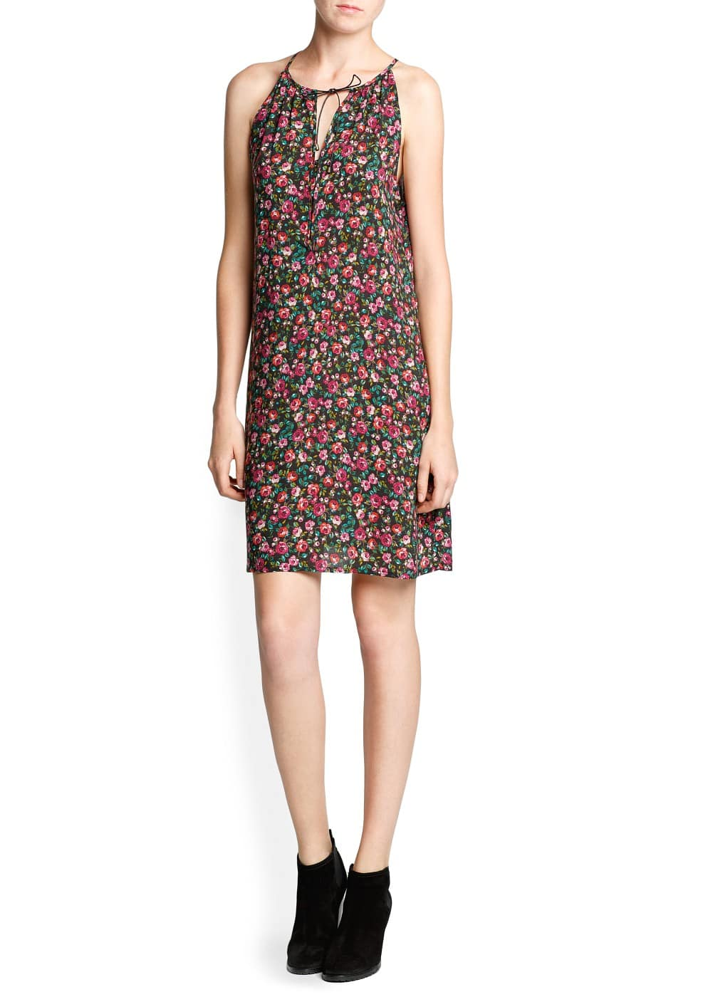 Floral print flowing dress | MANGO