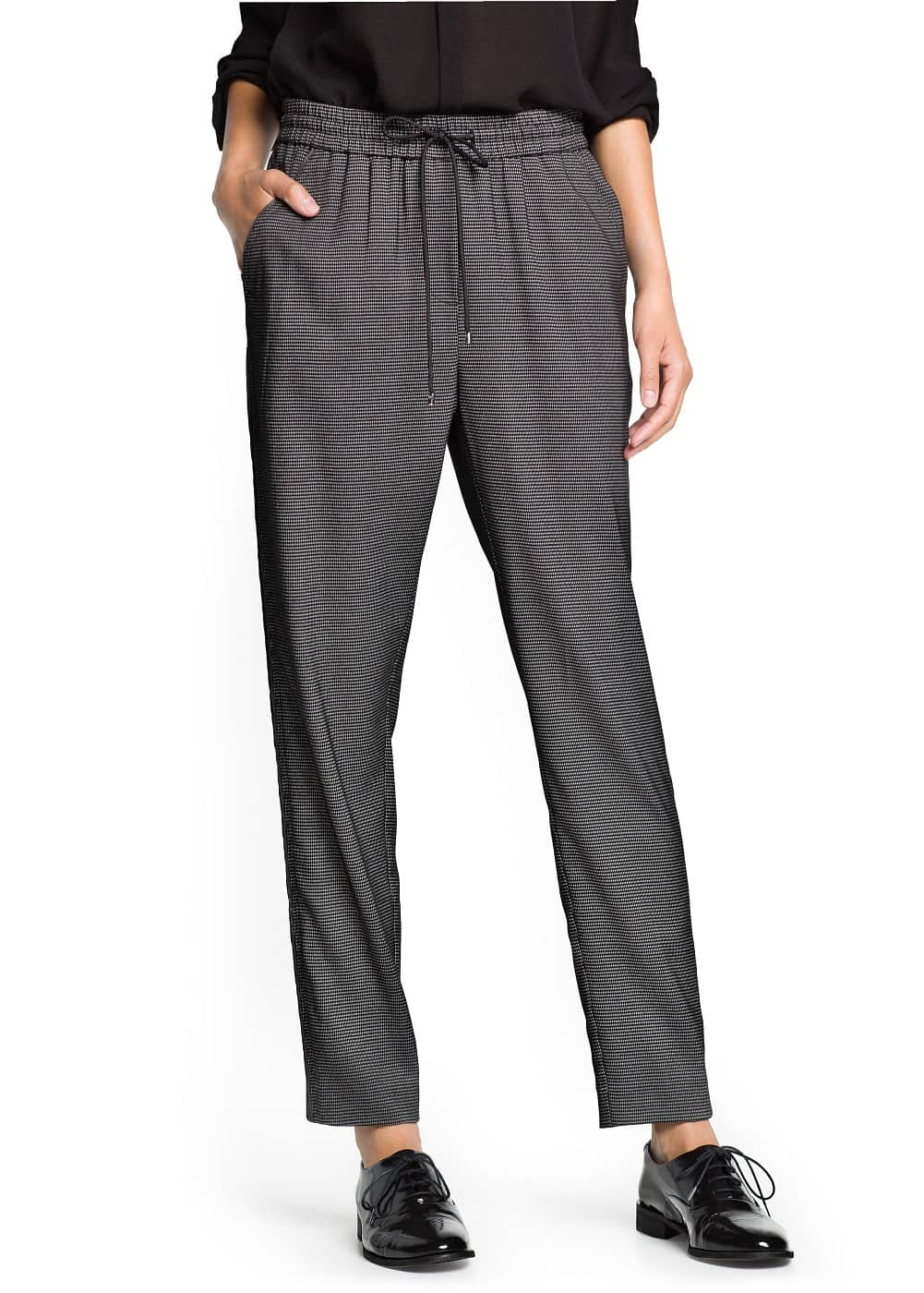 Jacquard baggy trousers