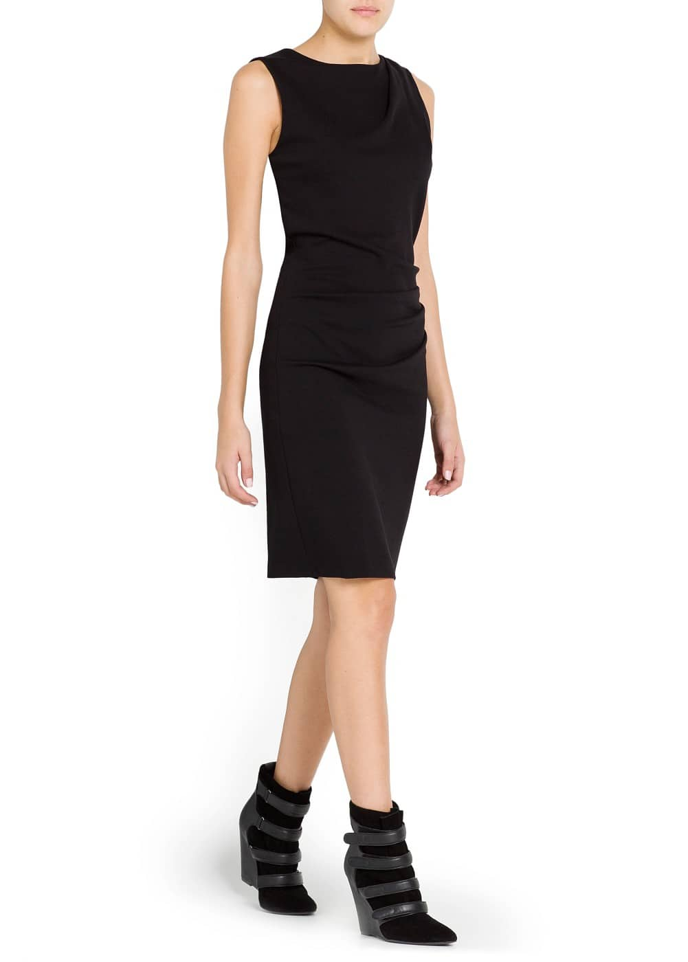 Ruched detail pencil dress