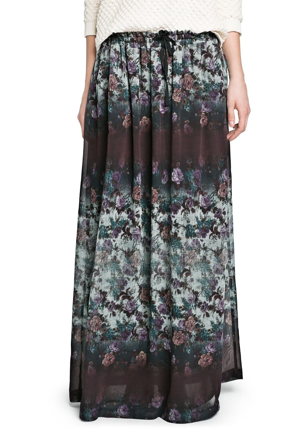 Floral print long skirt | MANGO