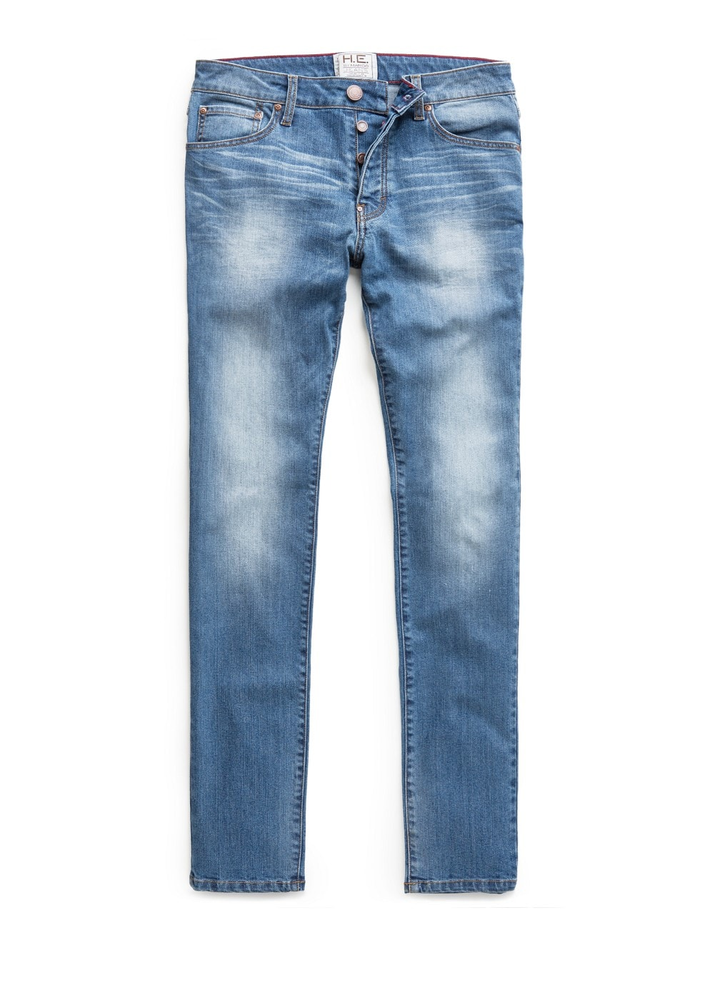 Slim-fit medium wash Tim jeans
