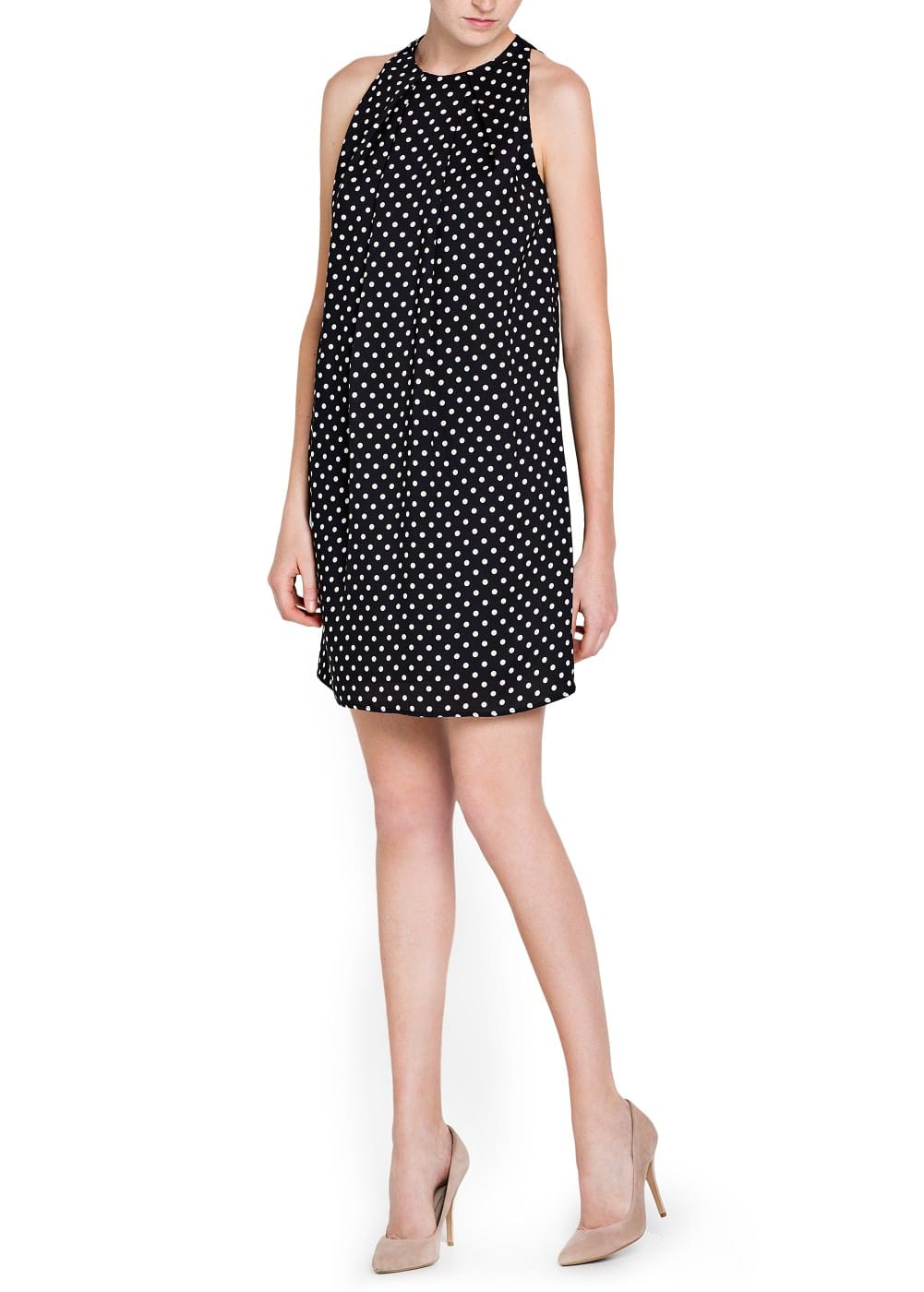 Flowy polka-dot dress | MANGO