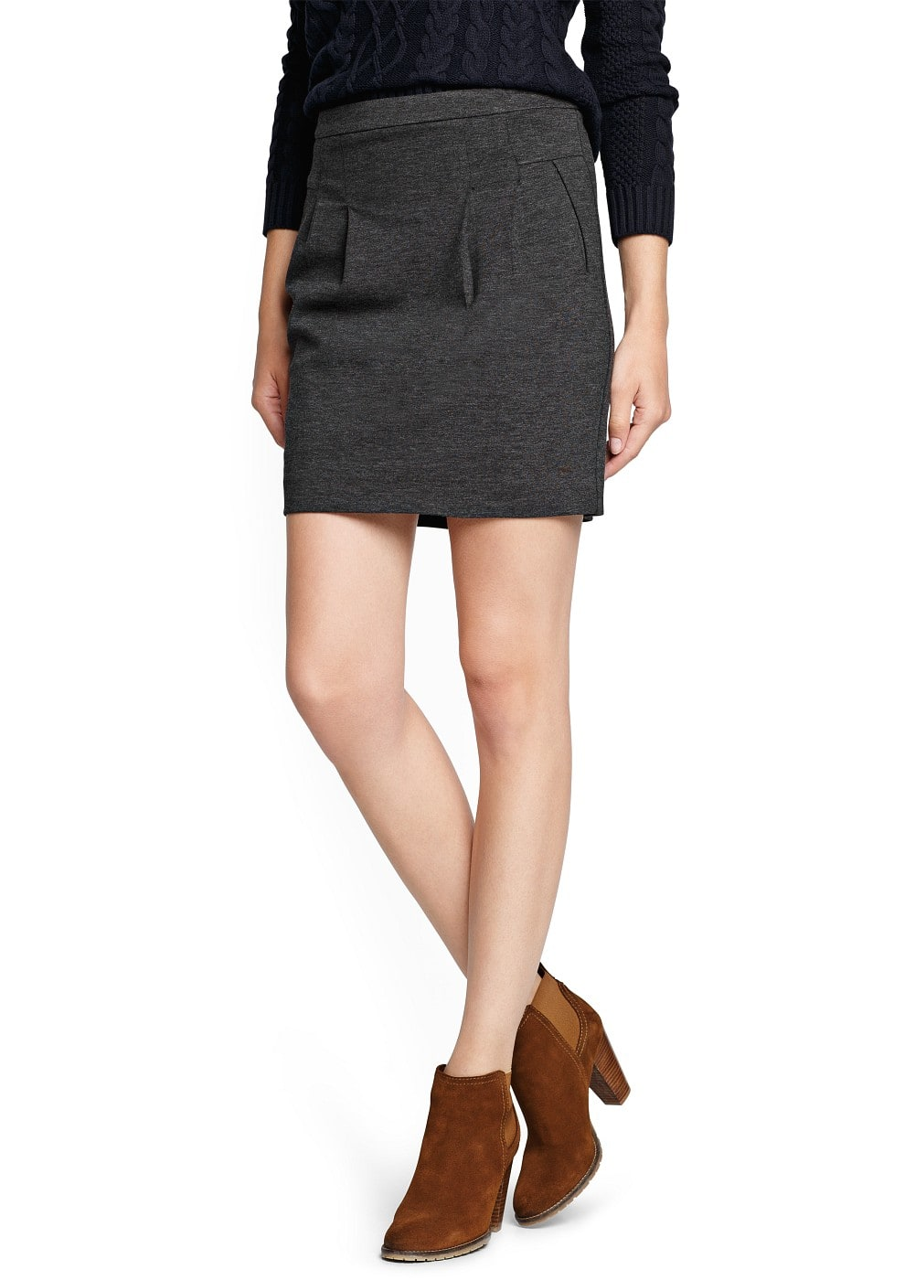 Pleated short skirt | MANGO
