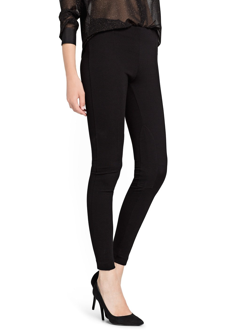 Horse-riding style leggings