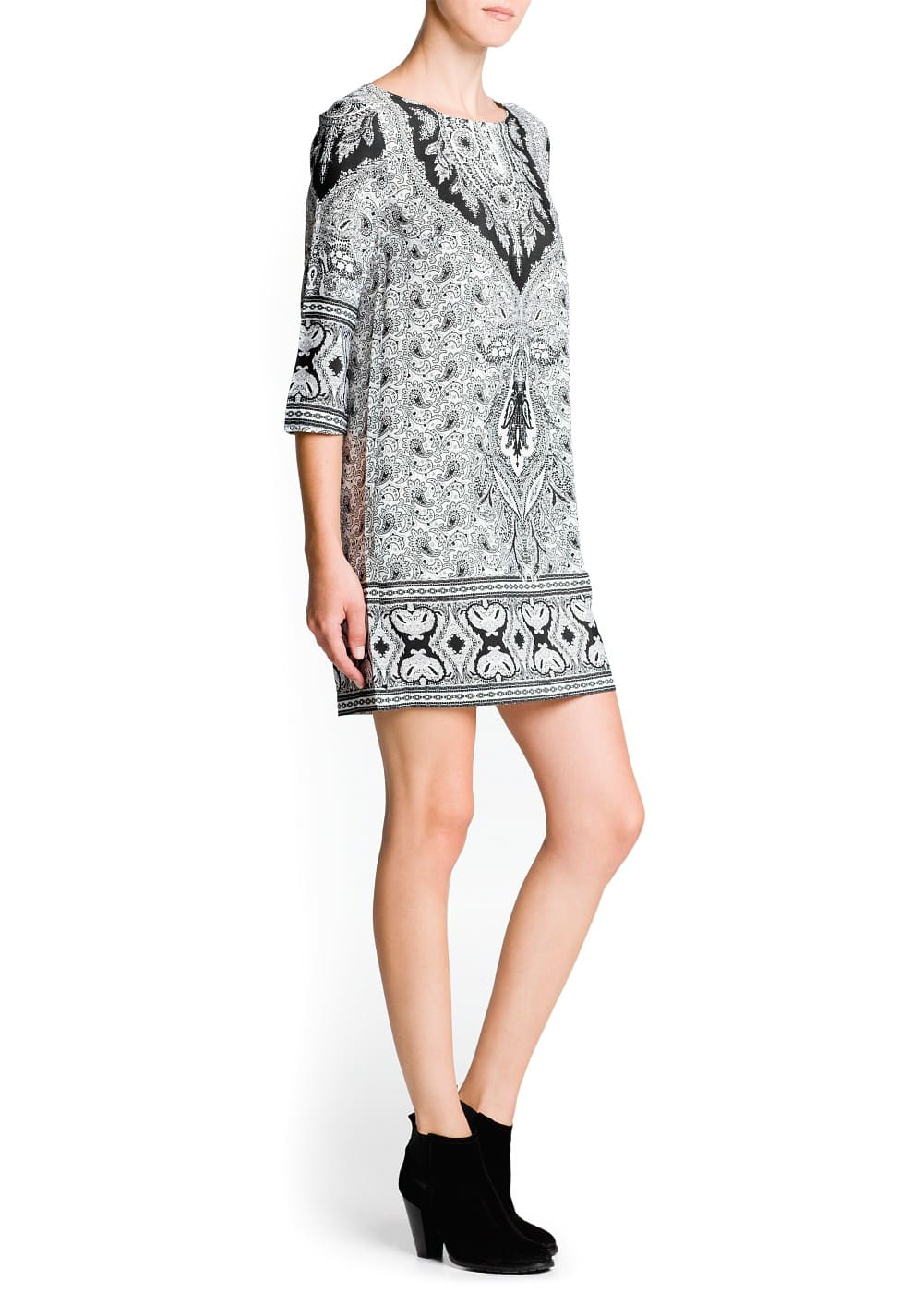 Paisley print shift dress | MANGO