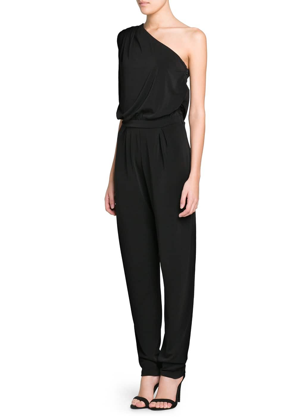 Asymmetric long jumpsuit