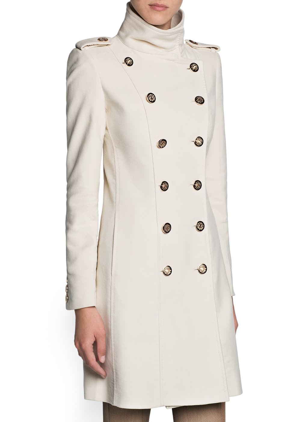Double-breasted cotton coat