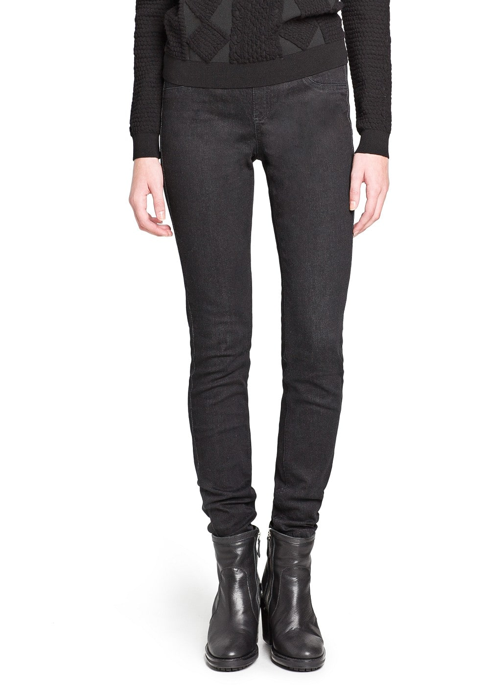 Black jeggings | MANGO