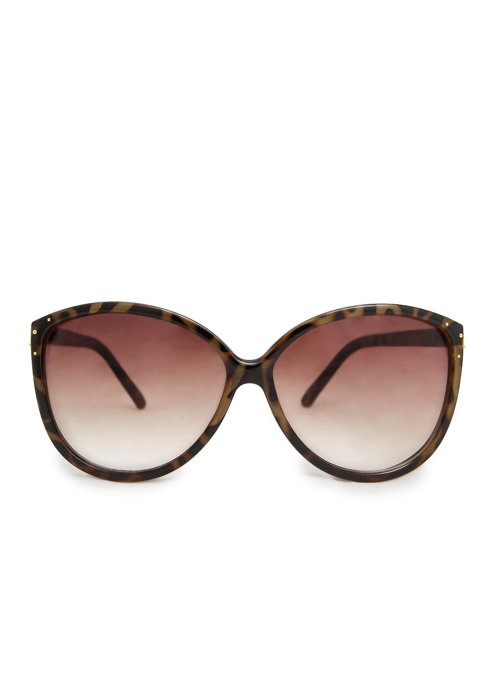 Metal appliqué cat-eye sunglasses