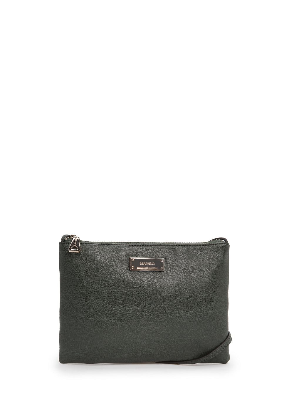 Faux leather shoulder bag