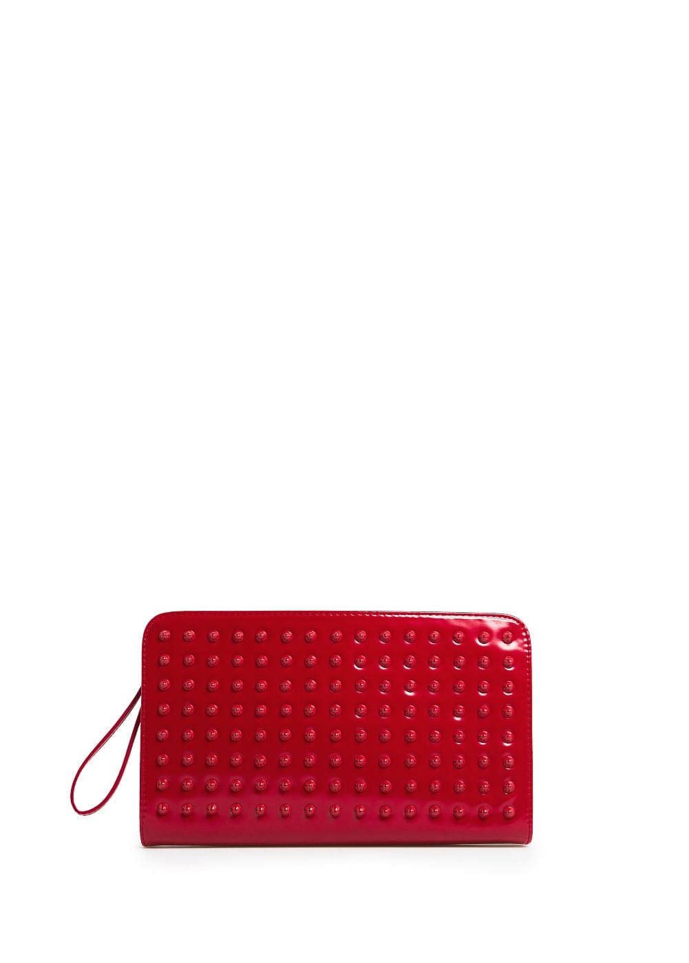 Shiny finish studded clutch | MANGO